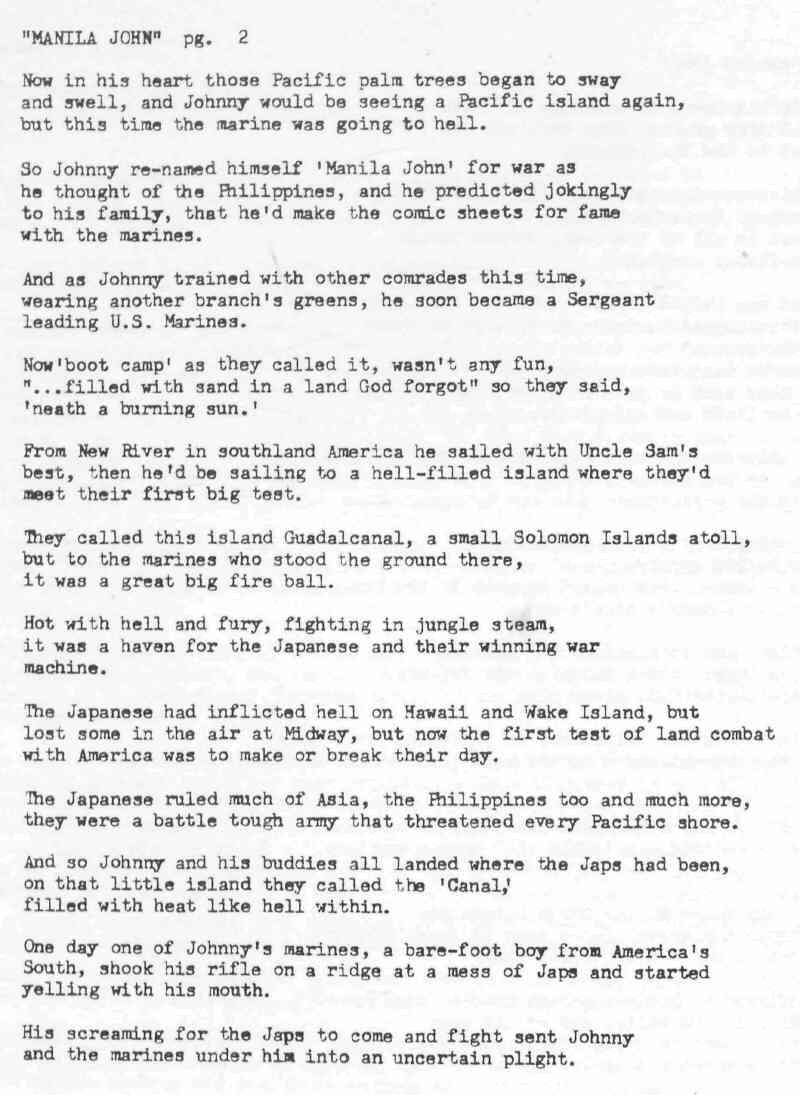 Poem About John Basilone By Mark Barber