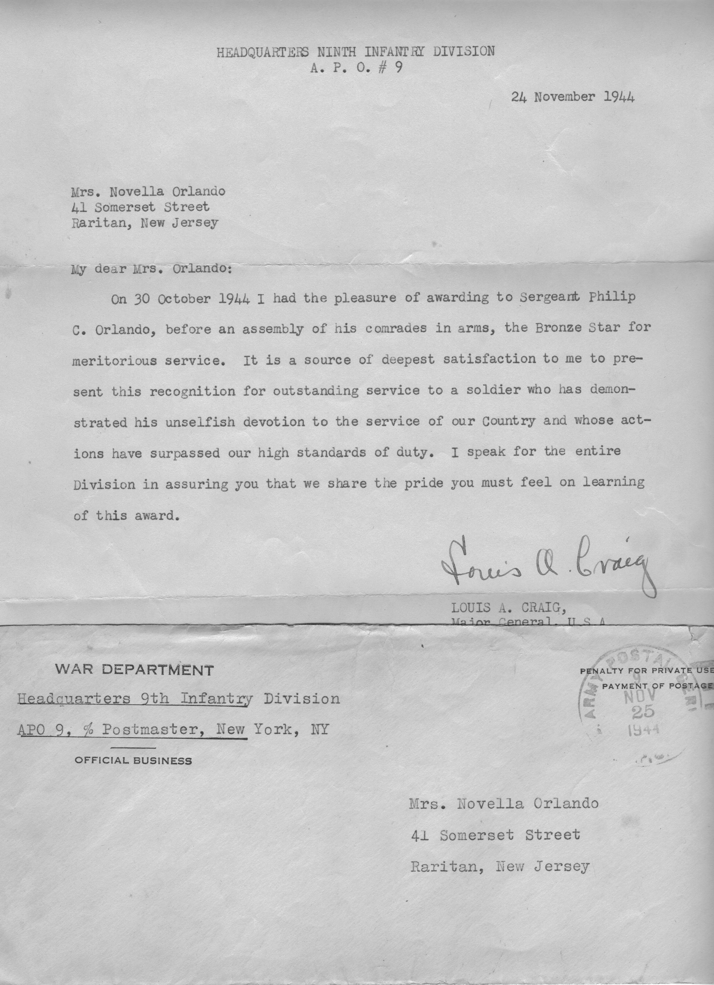 Philip orlando letter from commanding officer philip orlando letter from commanding officer altavistaventures Image collections